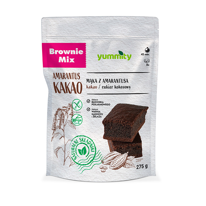 Bezglutenowe brownie 275g Yummity