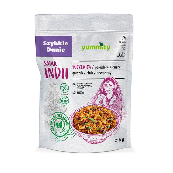 Bezglutenowe szybkie danie smak Indii 216 g Yummity
