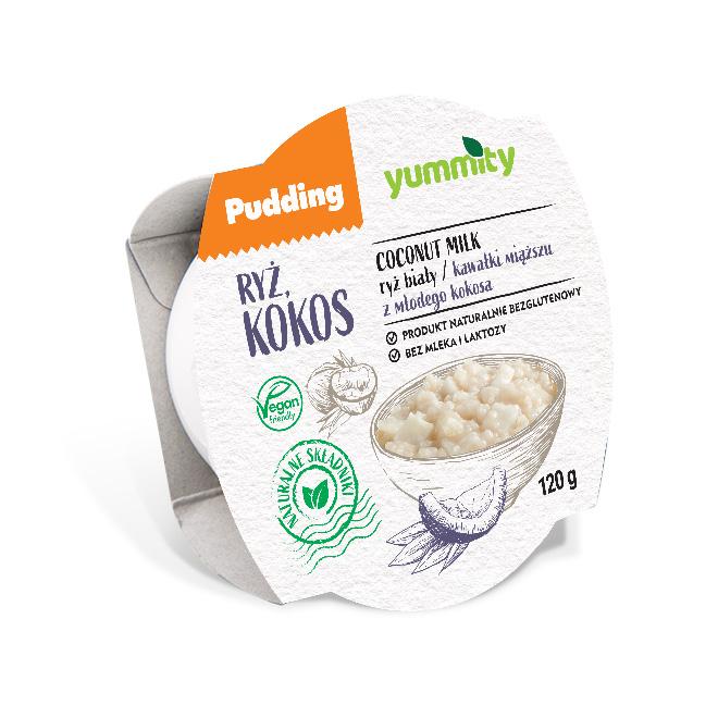 Bezglutenowy pudding ryżowy z kokosem 120 g Yummity