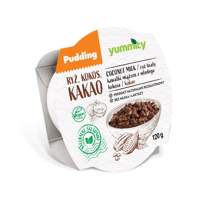 Bezglutenowy pudding ryżowy z kokosem i kakao 120 g Yummity