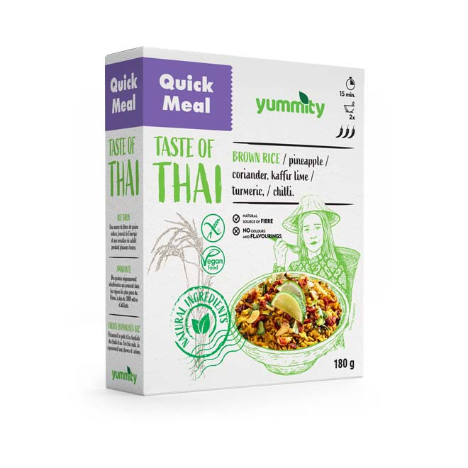 Gluten-free quick meal with a Thai taste 180 g Yummity