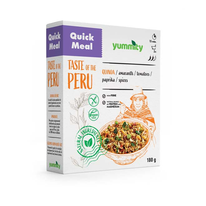 Gluten-free quick meal with a Peru flavor 180 g Yummity