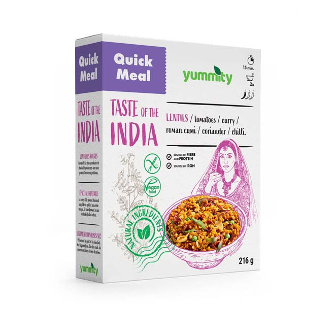 Gluten-free quick meal with an Indian flavor 216 g Yummity