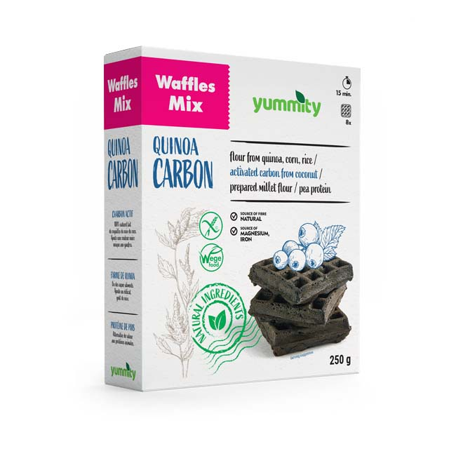 Gluten-free activated carbon waffles 250 g Yummity
