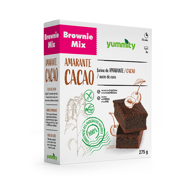 Brownie sans gluten 275 g Yummity