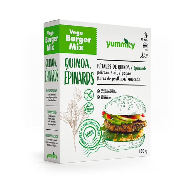 Burger végétarien sans gluten aux épinards 120 g Yummity