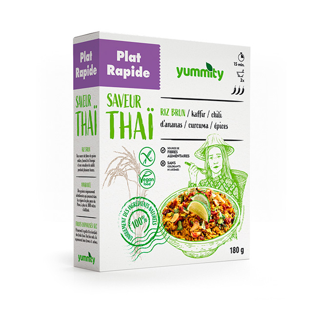 Plat rapide sans gluten au goût de la Thaïlande 180 g Yummity