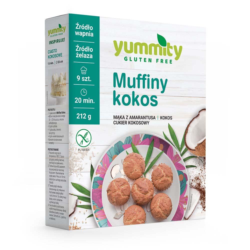 Bezglutenowe muffiny kokosowe 212g Yummity