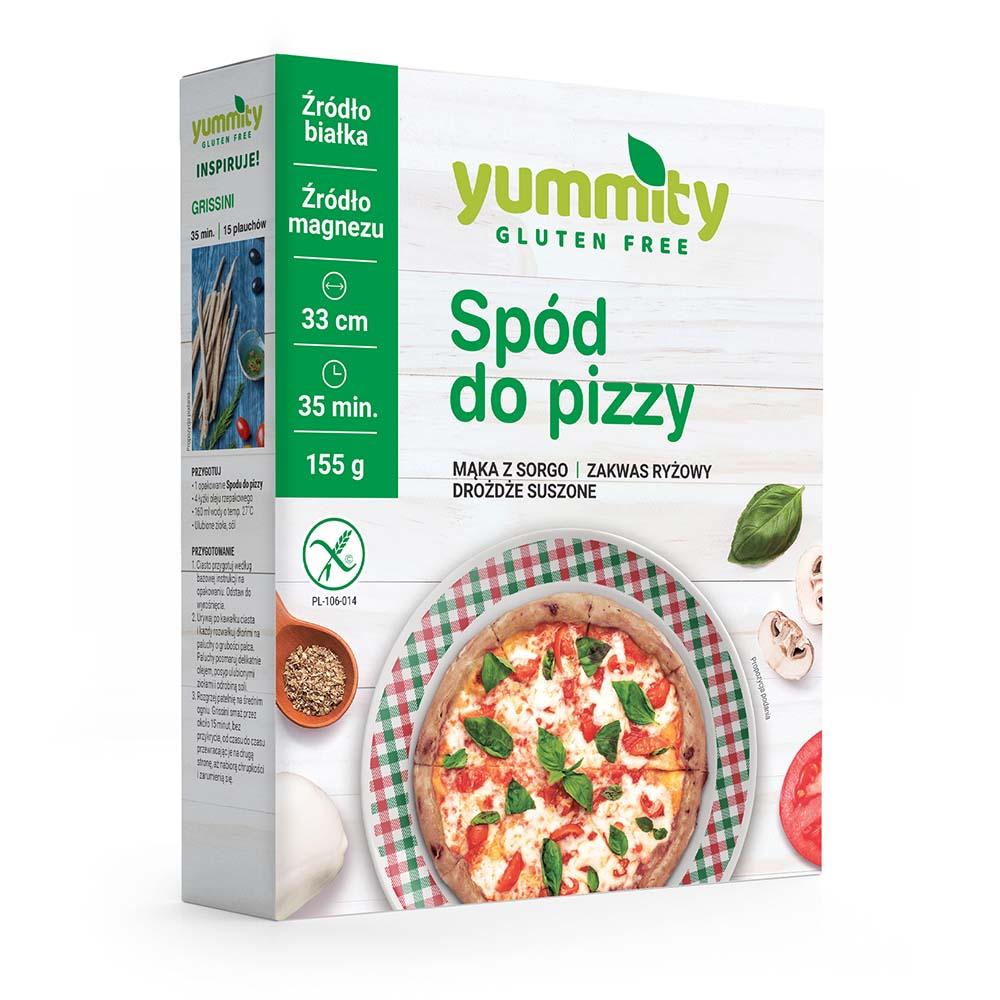 Bezglutenowy spód do pizzy 155g Yummity
