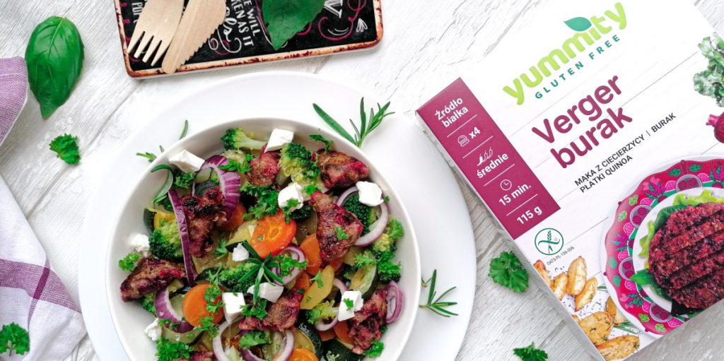 Sałatka z pieczonymi warzywami Yummity