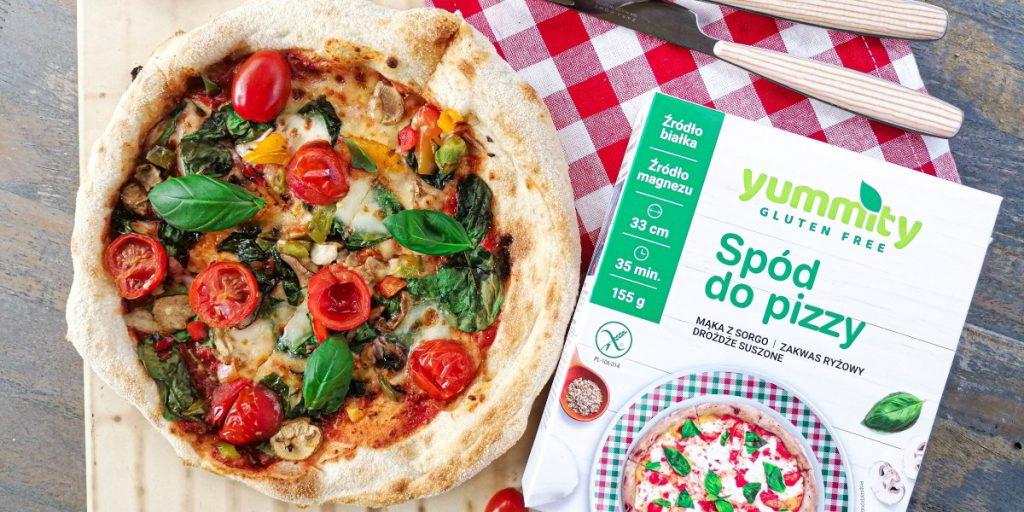 Bezglutenowa pizza z warzywami Yummity