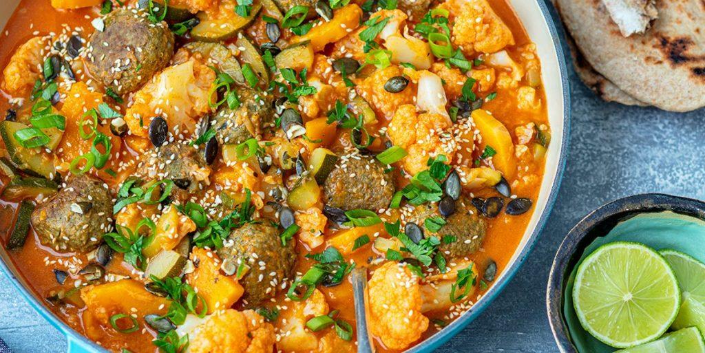 Warzywne curry z pulpecikami szpinakowymi Praktykulinarni YUmmity
