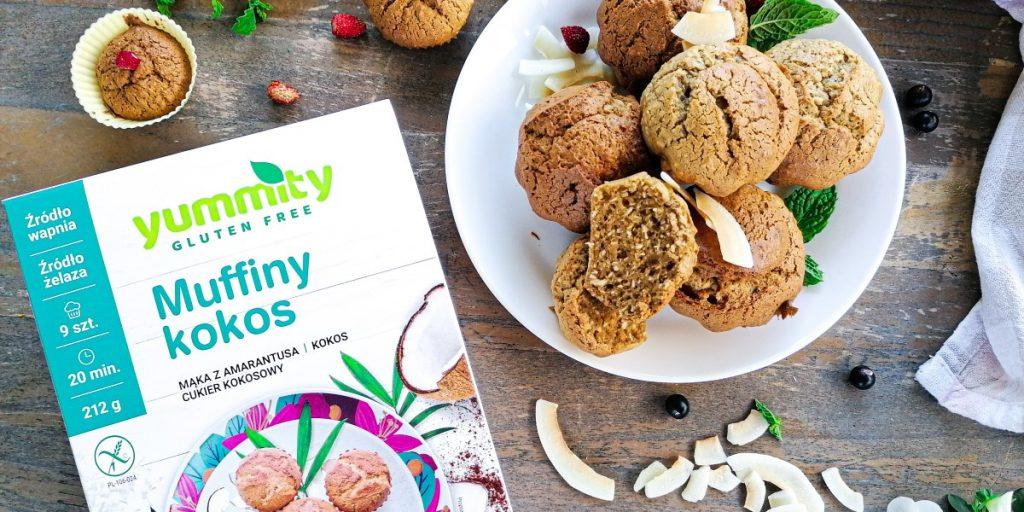 Muffinki kokosowe bez glutenu Yummity